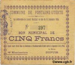 5 Francs FRANCE régionalisme et divers  1915 JP.02-0957 TTB