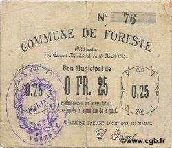 25 Centimes FRANCE régionalisme et divers FORESTE 1915 JP.02-0976 TTB
