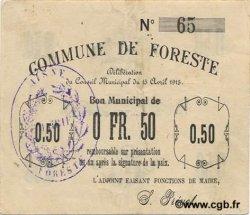 50 Centimes FRANCE régionalisme et divers FORESTE 1915 JP.02-0977 TTB