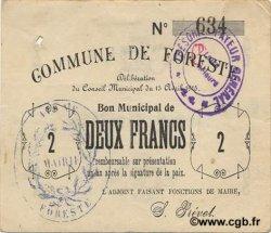 2 Francs FRANCE régionalisme et divers FORESTE 1915 JP.02-0979 TTB