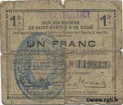 1 Franc FRANCE régionalisme et divers FRANCILLY SELENCY 1916 JP.02-0991.SQG B