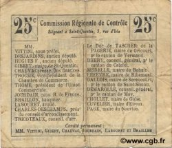 25 Centimes FRANCE régionalisme et divers FRESNOY LE GRAND 1916 JP.02-1021.BRU TTB