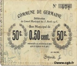 50 Centimes FRANCE régionalisme et divers GERMAINE 1915 JP.02-1051 TTB