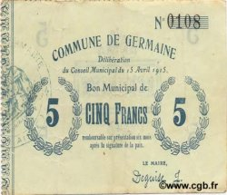 5 Francs FRANCE régionalisme et divers GERMAINE 1915 JP.02-1054 TTB+