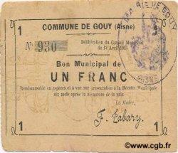1 Franc FRANCE régionalisme et divers GOUY 1915 JP.02-1072 TTB