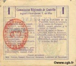 1 Franc FRANCE régionalisme et divers GOUY 1916 JP.02-1074.BRU SUP