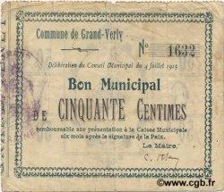 50 Centimes FRANCE régionalisme et divers GRAND VERLY 1915 JP.02-1078