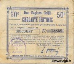 2 Francs FRANCE régionalisme et divers GRICOURT 1916 JP.02-1085.BRU TTB