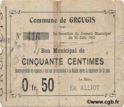 50 Centimes FRANCE régionalisme et divers GROUGIS 1915 JP.02-1088 TB