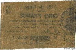 5 Francs FRANCE régionalisme et divers GUISE 1915 JP.02-1111 TTB+