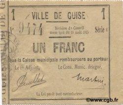 1 Franc FRANCE régionalisme et divers GUISE 1915 JP.02-1116 pr.SUP