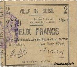 2 Francs FRANCE régionalisme et divers GUISE 1915 JP.02-1117 SUP