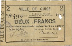 2 Francs FRANCE régionalisme et divers GUISE 1915 JP.02-1117 TTB