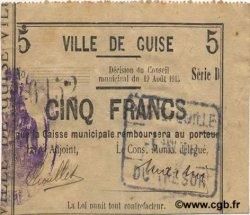 5 Francs FRANCE régionalisme et divers GUISE 1915 JP.02-1118 TTB