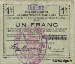 1 Franc FRANCE régionalisme et divers GUISE 1916 JP.02-1125.SQG TTB