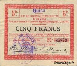 5 Francs FRANCE régionalisme et divers GUISE 1916 JP.02-1125.SQG TTB