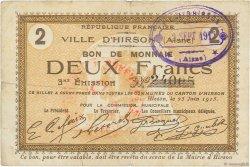 2 Francs FRANCE régionalisme et divers  1915 JP.02-1182 TTB