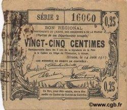 25 Centimes FRANCE régionalisme et divers HIRSON 1917 JP.02-1194 TTB