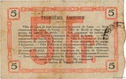5 Francs FRANCE régionalisme et divers HIRSON 1917 JP.02-1197 TTB
