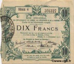 10 Francs FRANCE régionalisme et divers HIRSON 1917 JP.02-1206 SUP