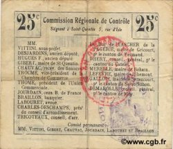 25 Centimes FRANCE régionalisme et divers HOLNON 1916 JP.02-1213.BRU TTB