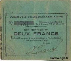 2 Francs FRANCE régionalisme et divers  1915 JP.02-1222 TTB