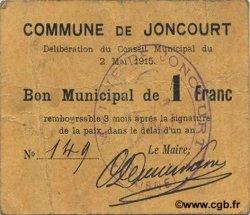 1 Franc FRANCE régionalisme et divers JONCOURT 1915 JP.02-1254 TTB