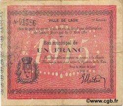 1 Franc FRANCE régionalisme et divers LAON 1915 JP.02-1275 TTB