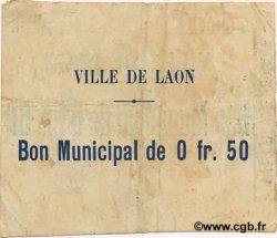 50 Centimes FRANCE régionalisme et divers LAON 1915 JP.02-1283 TTB