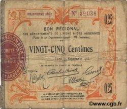 25 Centimes FRANCE régionalisme et divers LAON 1915 JP.02-1300 B+