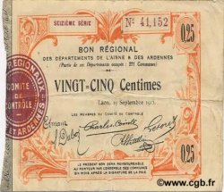 25 Centimes FRANCE régionalisme et divers LAON 1915 JP.02-1300 TB+
