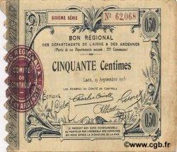 50 Centimes FRANCE régionalisme et divers LAON 1915 JP.02-1301 TTB