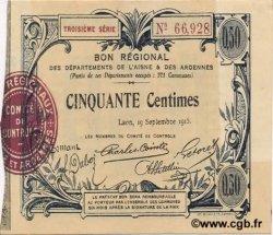 50 Centimes FRANCE régionalisme et divers  1915 JP.02-1301 SUP