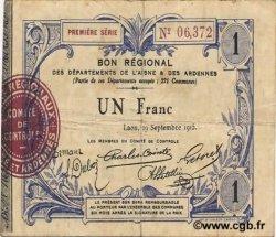 1 Franc FRANCE régionalisme et divers  1915 JP.02-1302 TTB