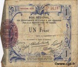 1 Franc FRANCE régionalisme et divers LAON 1915 JP.02-1302 pr.TB