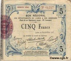 5 Francs FRANCE régionalisme et divers  1915 JP.02-1303 TTB