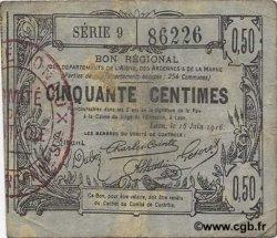 50 Centimes FRANCE régionalisme et divers  1916 JP.02-1308 TB
