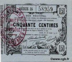 50 Centimes FRANCE régionalisme et divers  1916 JP.02-1308 SPL