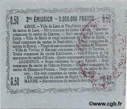 50 Centimes FRANCE régionalisme et divers LAON 1916 JP.02-1308 SPL