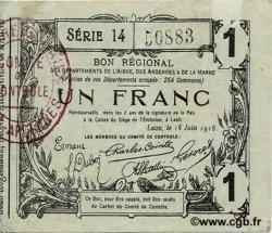 1 Franc FRANCE régionalisme et divers  1916 JP.02-1309 TTB