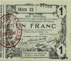 1 Franc FRANCE régionalisme et divers LAON 1916 JP.02-1309 TTB