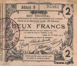 2 Francs FRANCE régionalisme et divers LAON 1916 JP.02-1310 TTB