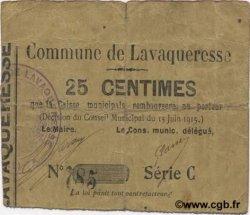 25 Centimes FRANCE régionalisme et divers LAVAQUERESSE 1915 JP.02-1319 TB