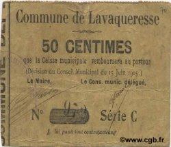 50 Centimes FRANCE régionalisme et divers LAVAQUERESSE 1915 JP.02-1320 TB+