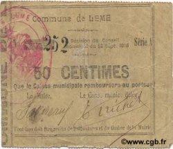 50 Centimes FRANCE régionalisme et divers LEME 1915 JP.02-1333 pr.TTB