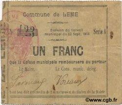 1 Franc FRANCE régionalisme et divers LEME 1915 JP.02-1334 TB