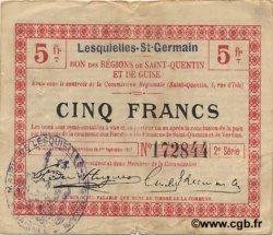 5 Francs FRANCE régionalisme et divers LESQUIELLES-SAINT-GERMAIN 1917 JP.02-1369.SQG pr.TTB