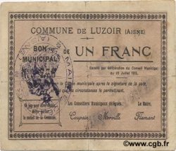 1 Franc FRANCE régionalisme et divers LUZOIR 1915 JP.02-1397 TB