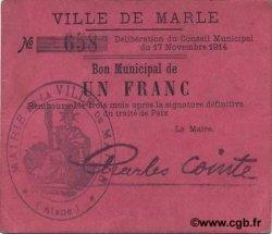 1 Franc FRANCE régionalisme et divers MARLE 1914 JP.02-1439 TTB+