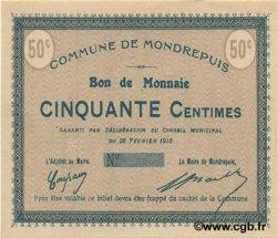 50 Centimes FRANCE régionalisme et divers MONDREPUIS 1915 JP.02-1527 NEUF